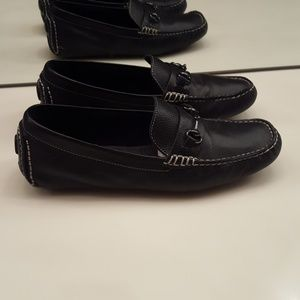 COLE HAAN BLACK LEATHER LOAFERS- SIZE 9 B